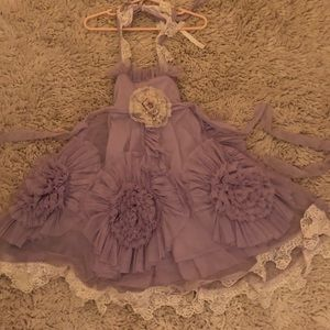 Miss goody two shoes frock lavender dress